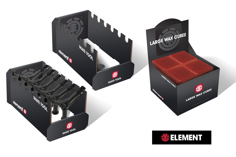 Element Skateboards-Tool Shipper and POS