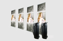 Pack Lite 1000 Banner Stands With Ro