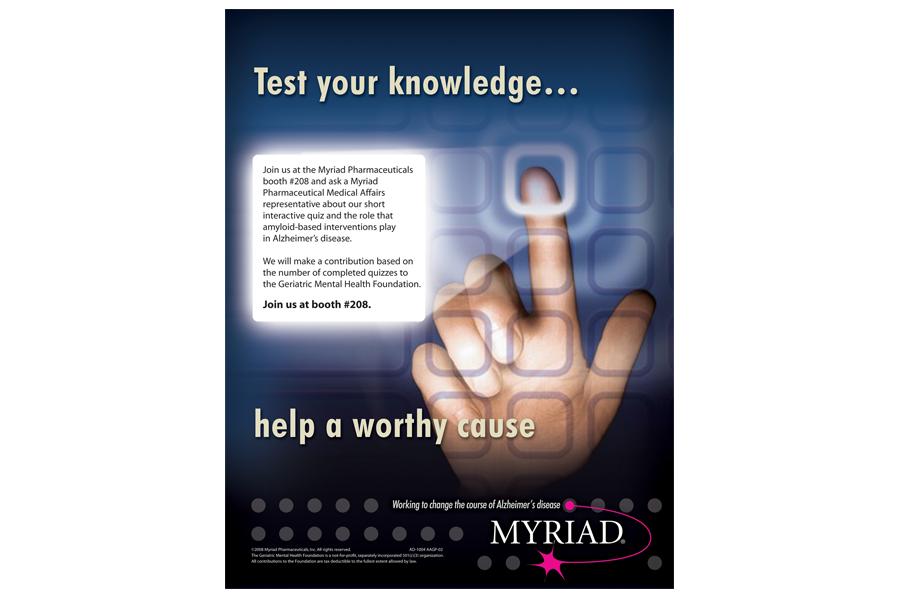 Print Ad - Myriad Pharmaceutical