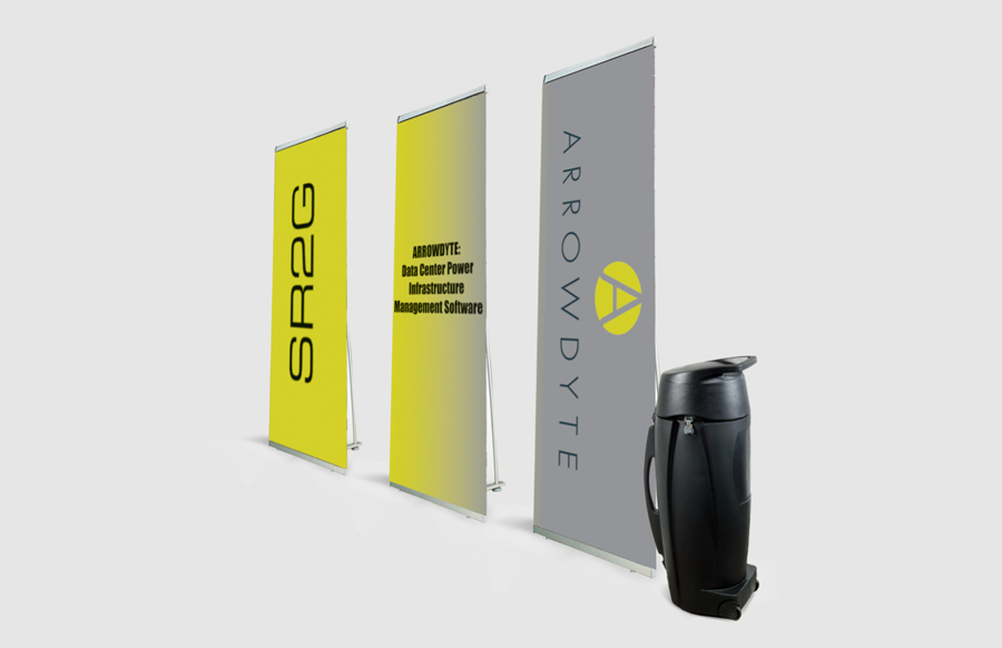 3 Pack Lite 850 Banner Stands With R