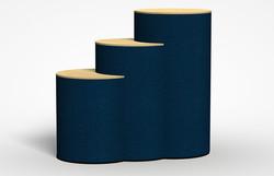 """Pedestal Round Cabinet 23"""" diameter"""