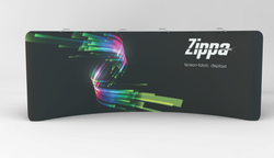 Zippa 20 Foot Curve Display