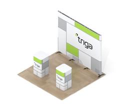 "Triga 10' x 10' Trade Show Booth ""B"""