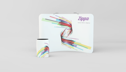 Zippa 10 Foot Curve Display