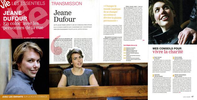 Portrait — Jeane Dufour. La Vie