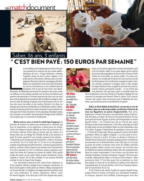 Les saisonniers de l'opium—03. Paris Match