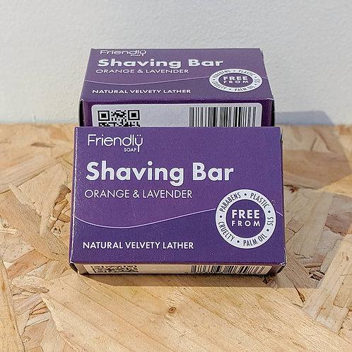 Shaving Soap Bar - Orange & Lavender (95g)
