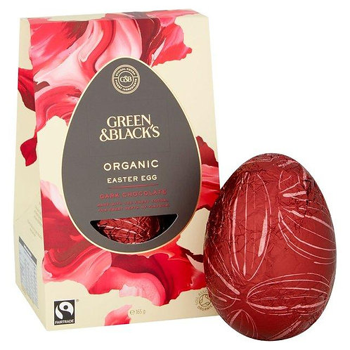 (Pre-Orders NOW CLOSED) Green and Blacks Dark Chocolate Easter Egg (165g)