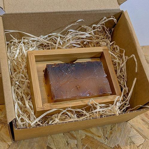 Bamboo Soap Dish and Alter/native Glycerine Soap