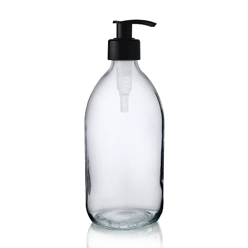 Glass Bottle with Pump