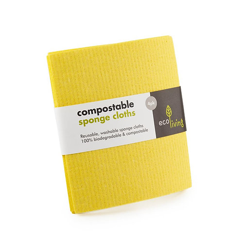 Compostable Sponge Cloths (4 Pack)