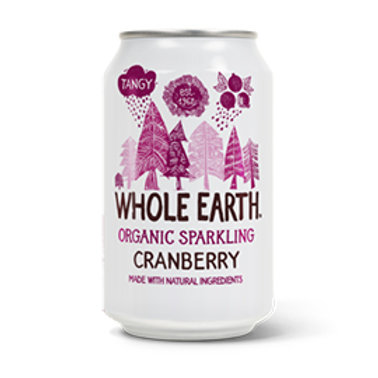 Whole Earth - Organic Cranberry (330ml Can)