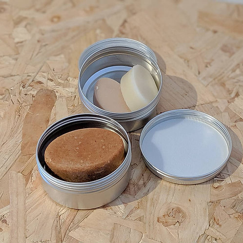Hair Shampoo / Conditioner Bar Tin (With Shampoo and Conditioner Minis)