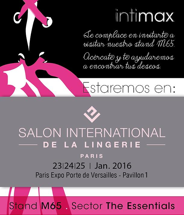 Intimax en el Salón Internacional de la Lencería. Del 23 al 25 de enero en París.