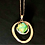 Thumbnail: Green/Gold Glass Stone on Gold Chain