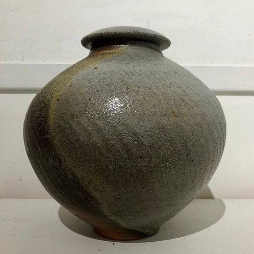 Gingko Lidded Jar