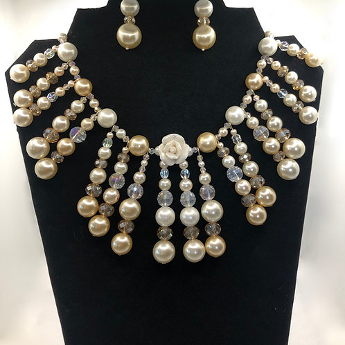 RBG Necklace and Earrings