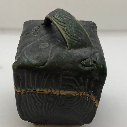 Dark Green Lidded Box