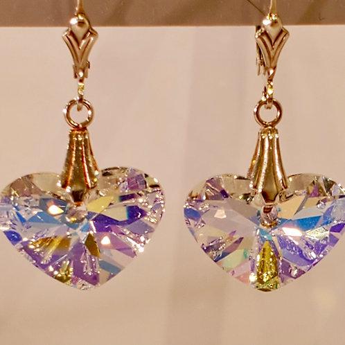 Swarovski Truly in Love Heart Earrings