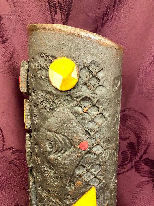 Colorful Embossed Ceramic Vase