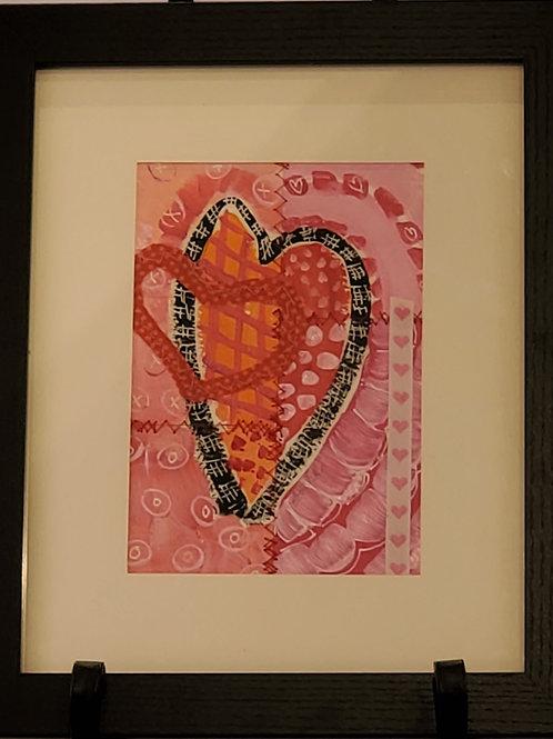 Large Framed Heart #2