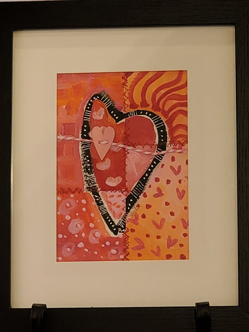 Large Framed Heart #1
