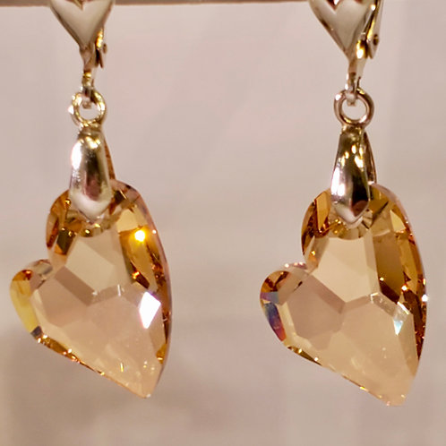 Swarovski Devoted to You Heart Earrings