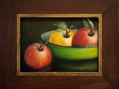 """Apples in Green Bowl"""