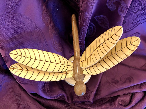 Wooden Dragonfly Statue