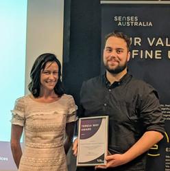 YDAN Executive Chair receving Senses Australia award