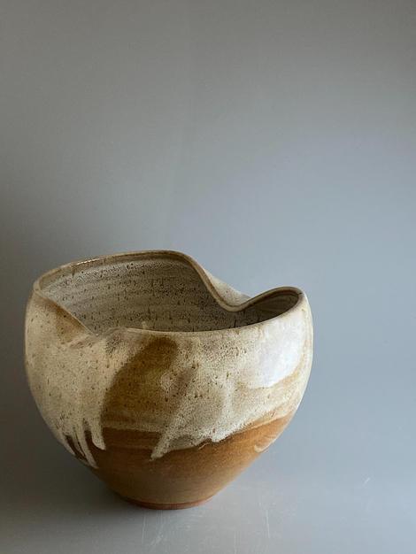 Light Brown Bowl Altered Rim