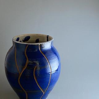 Carved Blue White Interior