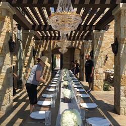 Malibu wedding table setting