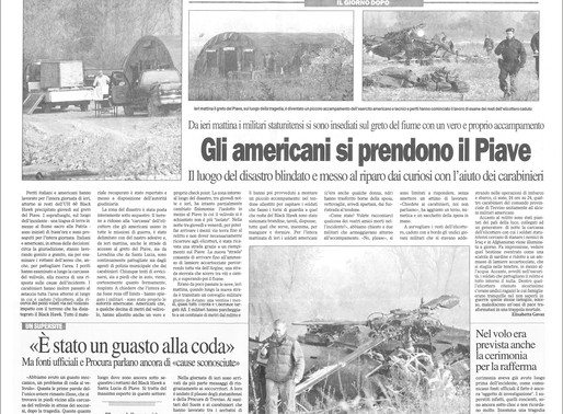 Incidente UH-60 Black Hawk U.S. Army - comandante Stefano Benassi