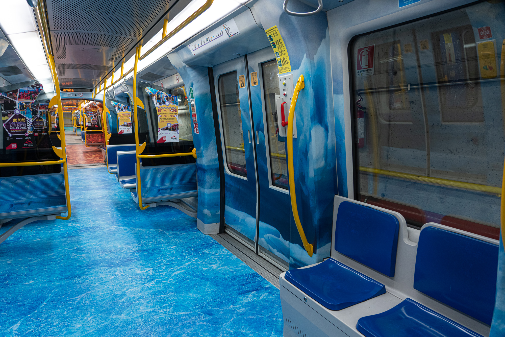 Decoro Treni metro 5 Milano