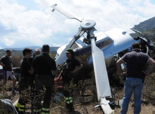 Schianto dell'elicottero: nuovo sopralluogo degli investigatori