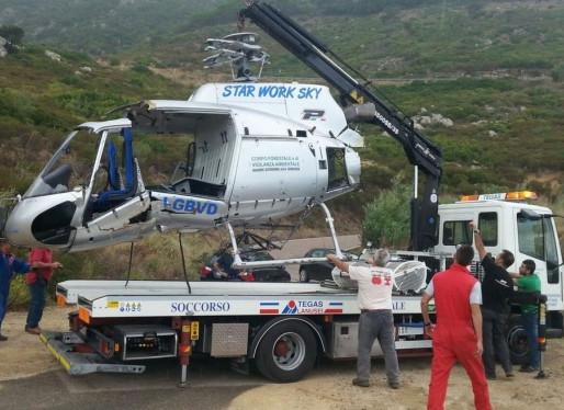 Incidente Ecureuil B3 - Rimosso l'elicottero precipitato ad Arzana