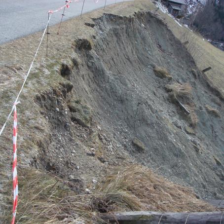 Katastrophenschäden 2019 - Hangrutschung Dösen - Mallnitz