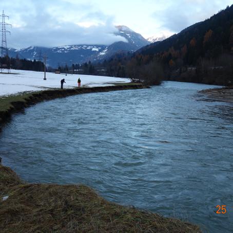 Bauarbeiten nach Katstrophenschäden 2019 - Verbandssammler Bergersteig -Flattach