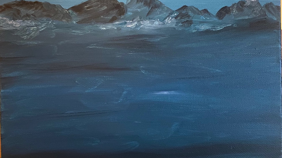 """San Juan Winter, oil on canvas, 16"""" x 18"""""""