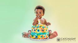 cake smash photography manchester