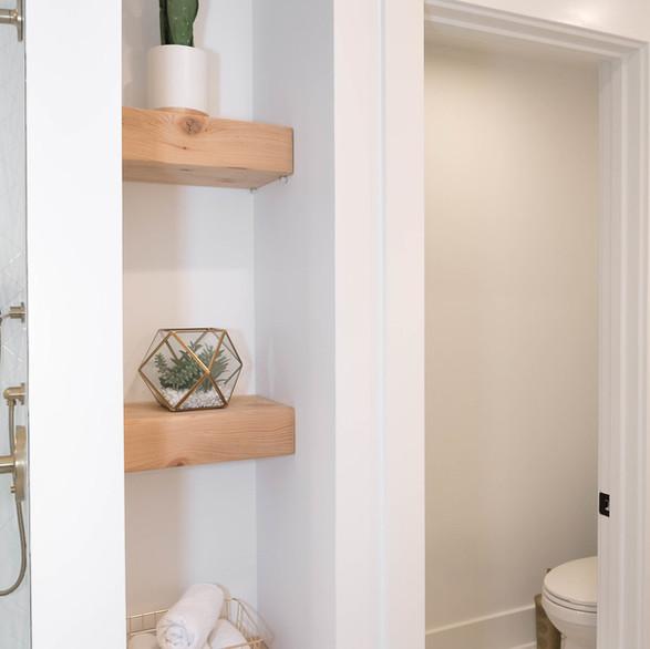 Custom Cedar Bathroom Shelving