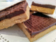 peanut butter squares, peanut butter bars, cafeteria peanut butter bars, strongsville, cleveland, northeast ohio, bakery, best bakery, chocolate peanut butter, old fashioned peanut butter bars, no bake peanut butter bars, vegan, gluten free, dairy free,