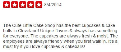 the cute little cake shop reviews, cute little cake shop reviews, cute little cake shop strongsville reviews, customer reviews, customer feedback, yelp, google +, the cute little cake shop customer reviews, ratings, best cupcakes in cleveland, cupcakes