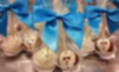 Cake Pop Wedding Favors, Bride and Grrom