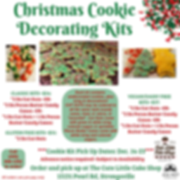 cleveland, strongsville, cookies, christmas cookies, bakery, cookie kits, cookie decorating, vegan, gluten free