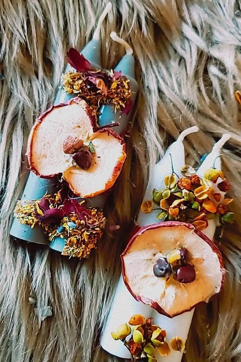 Autumn Equinox Ritual Candle 1 (2pk) Lavender,  Pumpkin or Apple Cinnamon