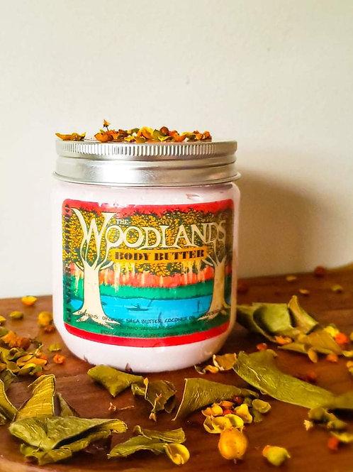 """Woodlands"" Sandalwood and Vanilla Body Butte 9oz"