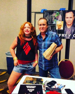 Riley with Jeffery Combs