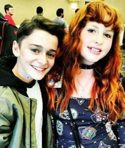 Riley with Noah Schnapp